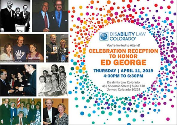 Invitation to Celebration Reception for Ed George