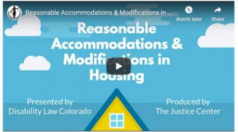 picture of the opening frame of the Reasonable Accommodations & Modifications in Housing video