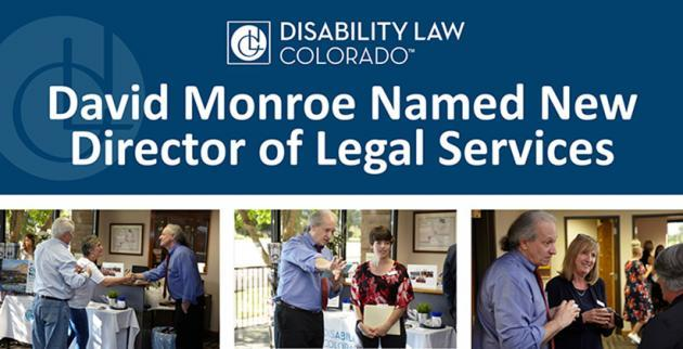 pictures of David Monroe with headline that he's been named New Director of Legal Services